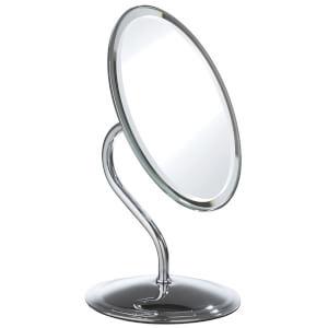 Premier Housewares Oval Swivel Mirror - Chrome Finish