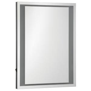 Premier Housewares Oran Illuminated Wall Mirror - Aluminium/Glass