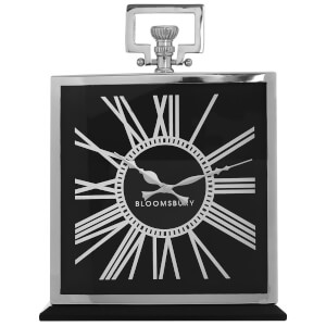 Fifty Five South Kensington Townhouse Square Mantle Clock - Black