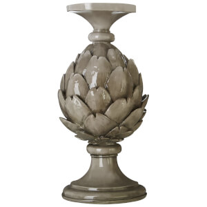 Fifty Five South Complements Artichoke Candle Holder - Light Grey