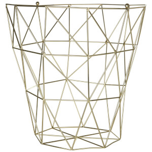 Fifty Five South Vertex Iron Wire Storage Basket - Gold Finish