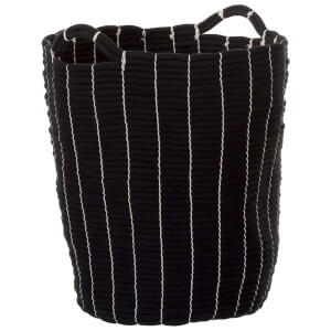 Fifty Five South Lida Laundry Basket - Rope/Black