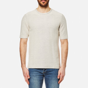 Folk Men's Mid Weight T-Shirt - Ecru Texture