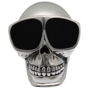 Cross Humanity Bluetooth Skull Speaker - Silver