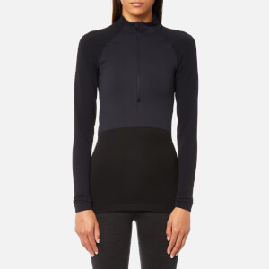 FALKE Ergonomic Sport System Women's 1/2 Zip Long Sleeve Performance Shirt - Platinum