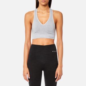 FALKE Ergonomic Sport System Women's Shape Medium Support Sports Bra - Grey-Heather
