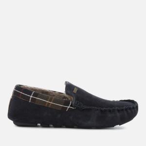 Barbour Men's Monty Suede Moccasin Slippers - Navy