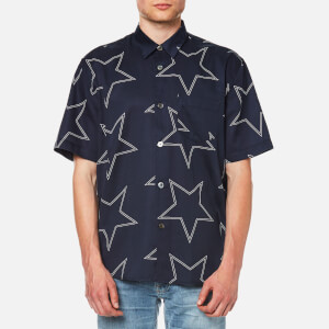 Our Legacy Men's Initial Short Sleeve Shirt - Navy Star Print