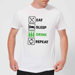 Eat Sleep Drink Repeat Mens T-Shirt