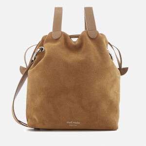 meli melo Women's Hazel Suede Drawstring Bag - Light Tan