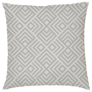 Geometric Chevron Print Cushion - Grey