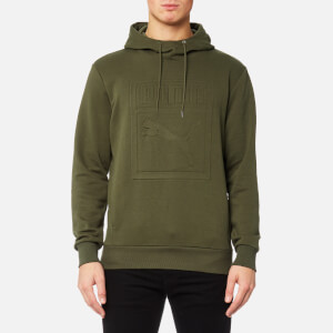 Puma Men's Archive Embossed Logo Hoody - Olive Night