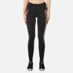 Puma Women's Everyday Graphic Tights - Puma Black/Copper Lacing