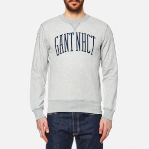 GANT Men's Crew Neck Sweatshirt - Light Grey Melange