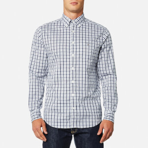GANT Men's The Oxford Check Button Down Shirt - Persian Blue