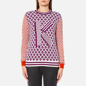 KENZO Women's Crew Neck Comfort K Sweater - Deep Fuchsia