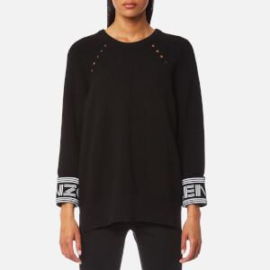 KENZO Women's Reversible Cuffs Kenzo Paris Knitted Jumper - Black