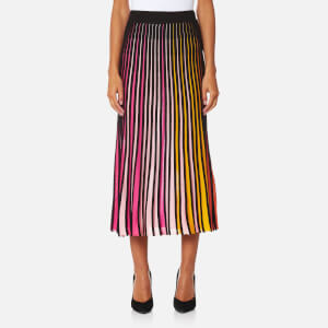 KENZO Women's Multi Colour Viscose Blend Rib Skirt - Multi