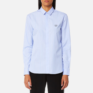 KENZO Women's Casual Fit Stripe Shirt - Light Blue