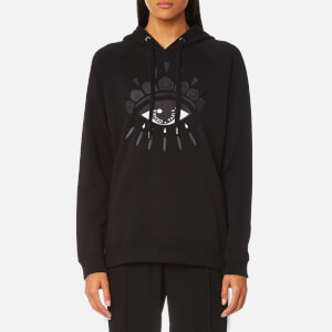 KENZO Women's Classic Icons Eye Molleton Hoody - Black