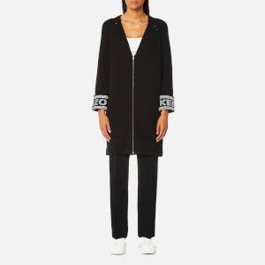 KENZO Women's Reversible Cuffs Paris Kenzo Knitted Cardigan - Black