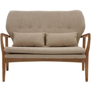 Stockholm Two Seater Sofa - Birchwood/Beige