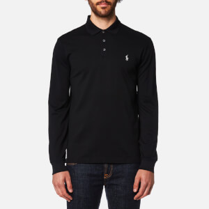 Polo Ralph Lauren Men's Long Sleeve Mesh Polo Shirt - Black