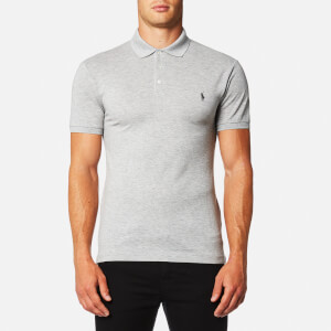 Polo Ralph Lauren Men's Stretch Slim Mesh Polo Shirt - Light Grey