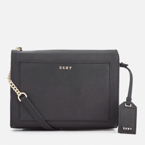 DKNY Women's Bryant Park Medium Box Cross Body Bag - Black