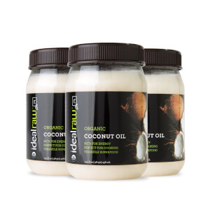 IdealRaw Organic Coconut Oil - 3 Pack