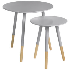 Fifty Five South Viborg Round Side Tables (Set of 2) - Grey