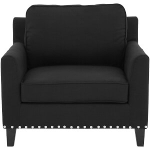 Fifty Five South Regents Park Stud Chair - Black