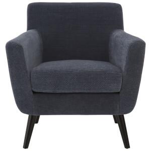 Fifty Five South Stockholm Chair - Blue Velvet/Oak