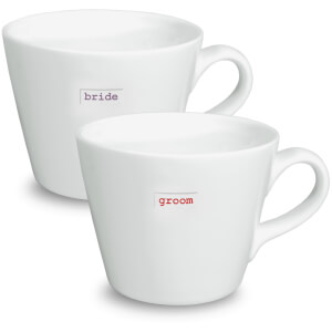 Keith Brymer Jones Bride and Groom Mugs - White (Set of 2)