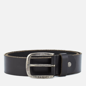 Jack & Jones Men's Paul Leather Belt - Black