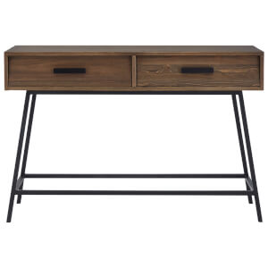 Fifty Five South Brooklyn Console Table - Fir Wood/Iron