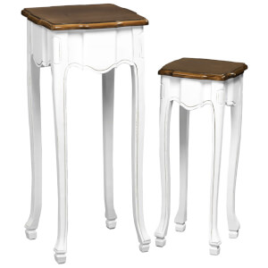 Fifty Five South Serena Accent Tables - Distressed Finish (Set of 2)