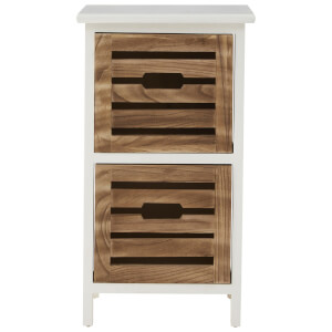 Fifty Five South Portsmouth Two Drawer Chest - White