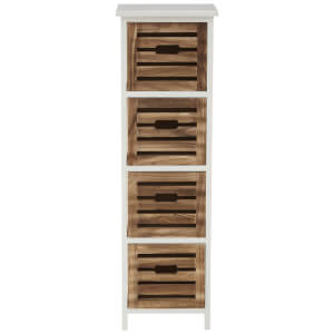 Fifty Five South Portsmouth Four Drawer Chest - White