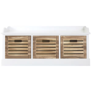 Fifty Five South Portsmouth Drawer Chest - Natural Drawer/White Frame