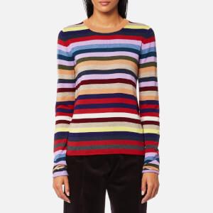 PS by Paul Smith Women's Stripe Crew Neck Jumper - Multi