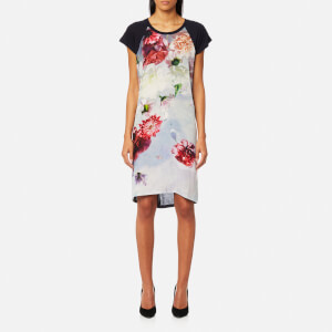 PS by Paul Smith Women's Floral T-Shirt Dress - Black