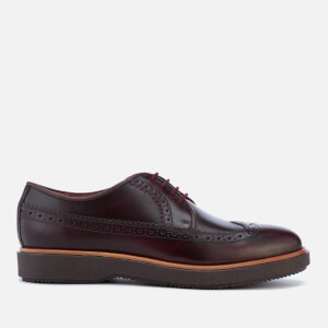 Clarks Men's Modur Limit Leather Brogues - Burgundy