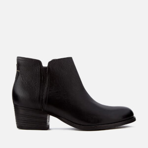Clarks Women's Maypearl Ramie Leather Heeled Ankle Boots - Black