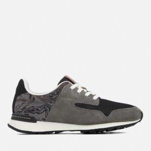 Clarks Women's Floura Mix Runner Trainers - Grey Combi