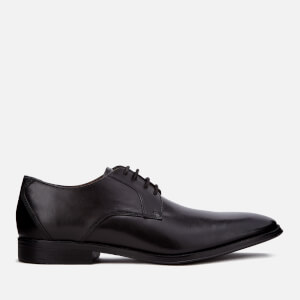 Clarks Men's Gilman Lace Leather Derby Shoes - Black