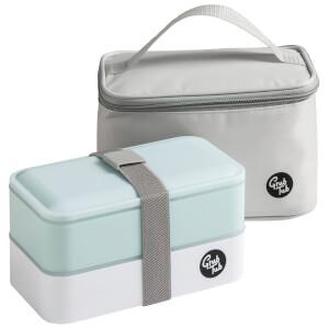 Grub Tub Lunch Box with Cool Bag - Blue/Grey