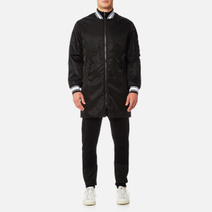 KENZO Men's Zipped Long Bomber Jacket - Black