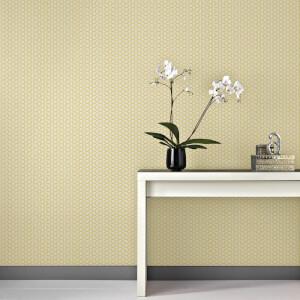 Superfresco Easy Helice Geometric Wallpaper - Yellow