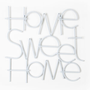 Art For The Home Home Sweet Home Contemporary Metal White Wall Art